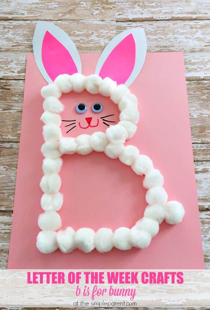 Alphabet letter crafts are a fun way to learn and practice the alphabet. Our preschool letter b craft is great for the letter B and for around Easter!