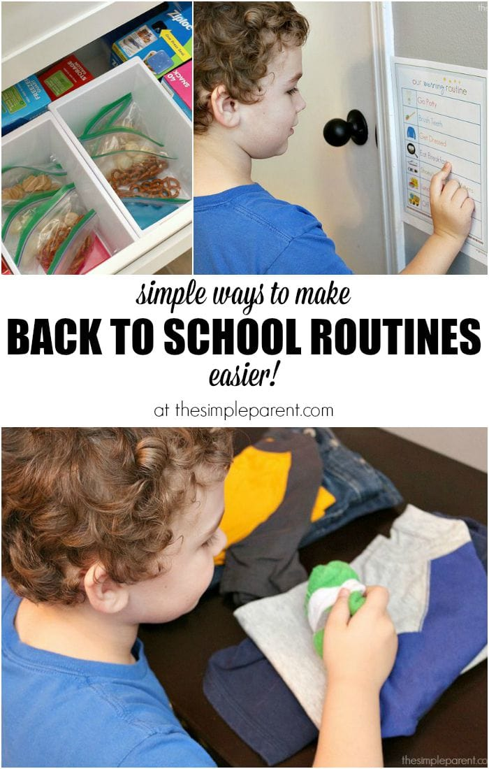 Make back to school routines easier with some quick organization tips that you can get your child involved in too!