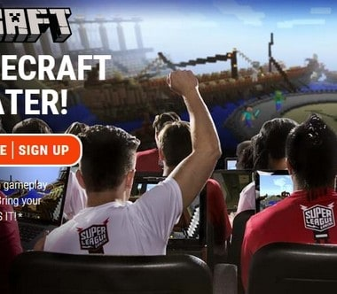 Play Minecraft in a movie theater this fall with Super League Gaming! It's coming to the Houston area!