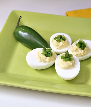 One of the best things about being from Texas is Tex-Mex food! Add a little spice to your deviled eggs recipe with this Tex-Mex Deviled Eggs recipe! It's so easy to make!