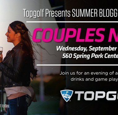 Join Me for Topgolf Spring Couples Night! From 7-9pm on Wednesday, September 16th we'll be enjoying games, food, drinks, and prizes!