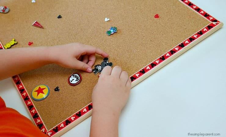 Make this Easy DIY Disney Pin Trading Display Board