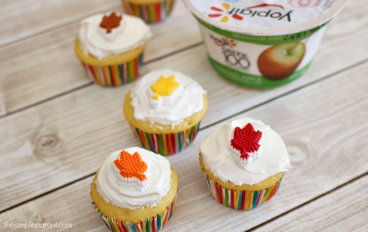 These easy caramel apple cupcakes have a simple ingredient list! Perfect fall cupcakes that are easy enough to make with the kids in the kitchen!