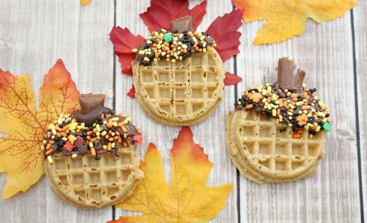 Fall Breakfast Ideas: Acorn Waffles