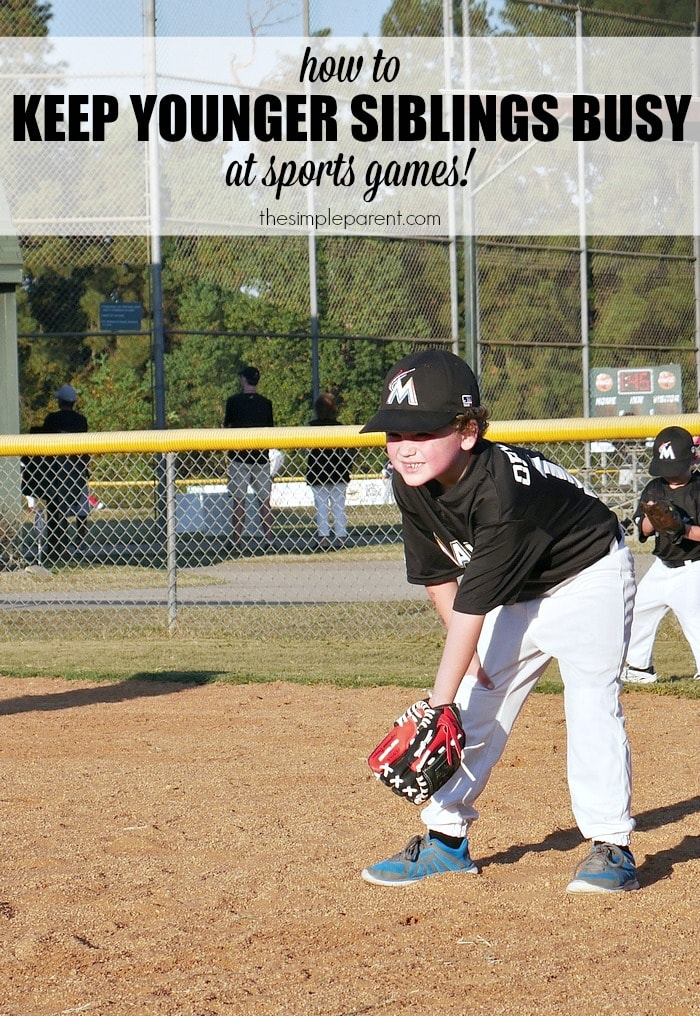 Fall sports season has arrived so it's all about how to keep younger siblings busy at sports games!