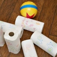 Stuck Inside with Kids? Paper Towels To the Rescue!
