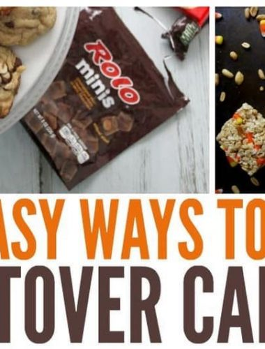 Have extra Halloween candy? Put leftover Halloween candy to use with these leftover candy recipes! From cookies and cake to a delicious salad, you don't have to throw leftover candy away this year!