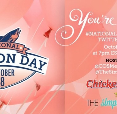 Join the #NationalSalmonDay Twitter Party with Chicken of the Sea on 10/8!