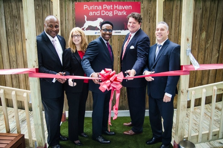 Purina Pet Haven is one of the few domestic violence shelters that lets victims bring their pets with them!