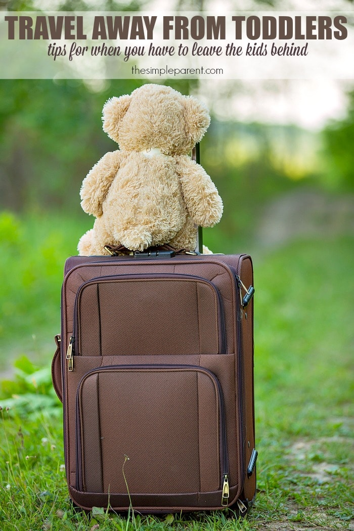 Traveling away from your kids (whether it's the first time or the 100th) can be challenging! Make travel away from toddler and preschool age kids a bit easier with these tips!