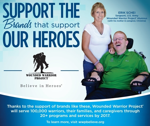 Support the Wounded Warrior Project by participating in the Believe in Heroes campaign when you do your grocery shopping!