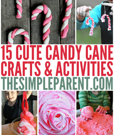 Candy canes are a fun part of the holiday season! These candy cane crafts and activities are a fun way to make your holidays sweet!