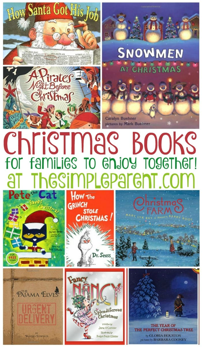 Reading with kids is important! Make it fun this holiday season with this list of Christmas books for families! Read one a night or buy a few and wrap them up for great Christmas gift ideas too!