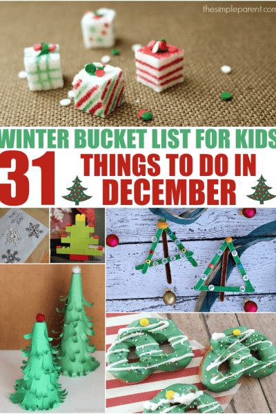 Wrap up the year with some fun activities on this December bucket list for kids! Use these bucket list activities to make family memories and keep the kids busy!