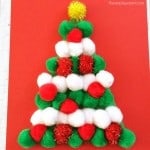 No Need to Water This Pom Pom Christmas Tree Craft