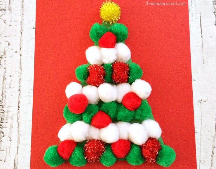 No Need to Water This Pom Pom Christmas Tree Craft • The ...