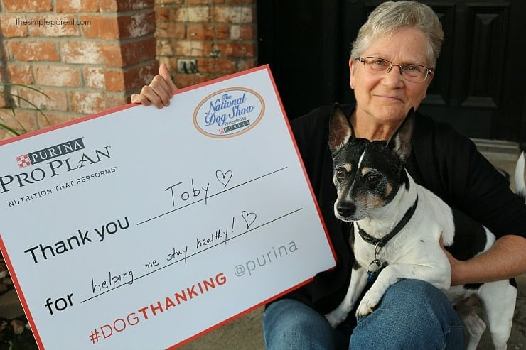 I am so grateful for Toby, @Purina and #dogthanking!