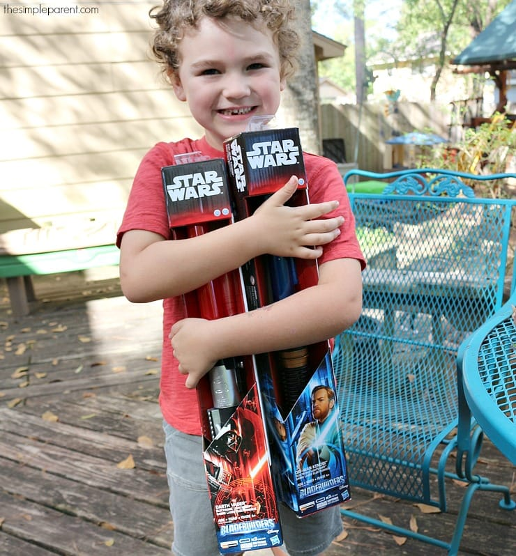 The Star Wars Bladebuilders Lightsabers are a must have holiday gift for any Star Wars fan!