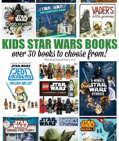Bring the force home from the movies with these fun Star Wars books for kids! Encourage your kids to read before and after seeing the movies!