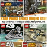 Looking for some fun and affordable Star Wars gifts? Check out these Star Wars Lego Sets! Over 25 Lego sets for under $15!