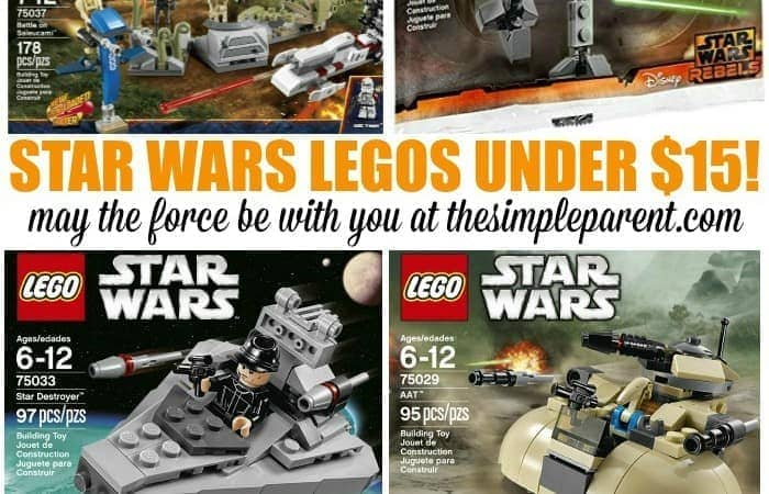 Get Star Wars Lego Sets Under $15 for the Best Gifts Ever!