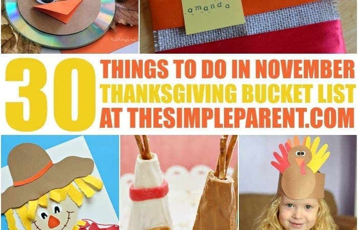 Thanksgiving Bucket List for Kids: 30 Things to Do in November