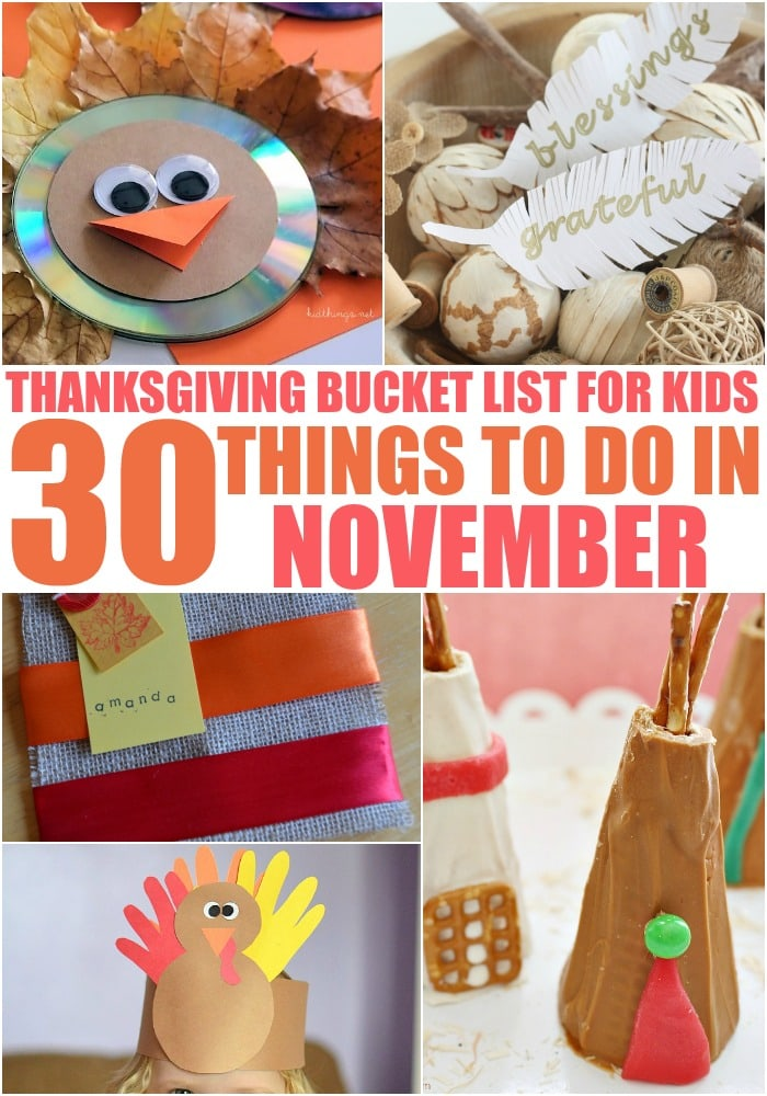 november craft ideas thanksgiving list for 30 things to do in 2559