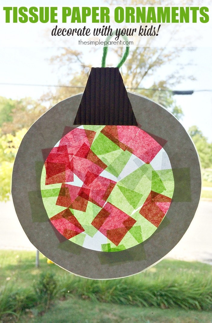 Help the Kids Make Tissue Paper Ornaments That Double as Suncatchers