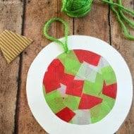 Help the Kids Make Tissue Paper Ornaments That Double as Suncatchers!