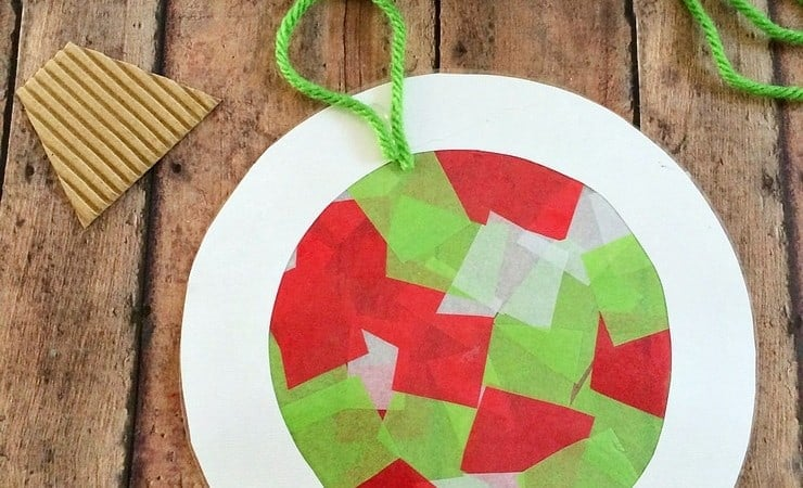 Help the Kids Make Tissue Paper Ornaments That Double as Suncatchers!