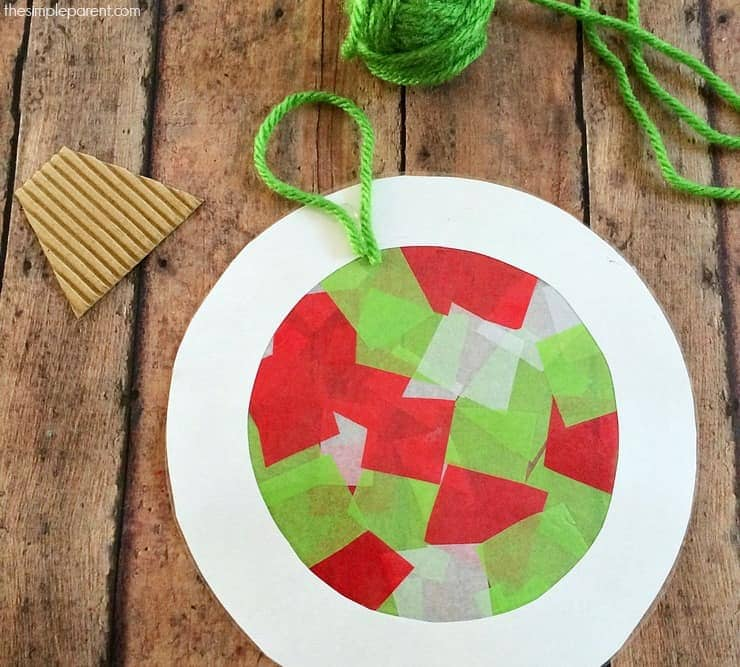 Help The Kids Make Tissue Paper Ornaments That Double As