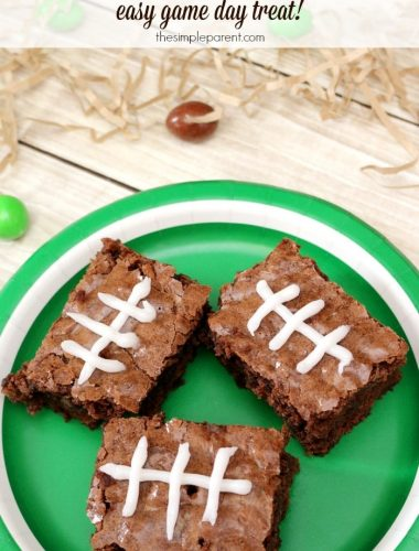 Make these easy football brownies for a perfect game day treat!