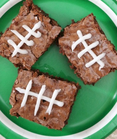 Make Easy Football Brownies for the Big Game!