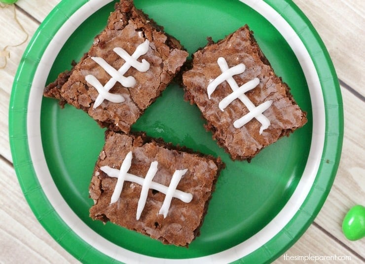 Learn how to make football brownies and plan a great game day treat!