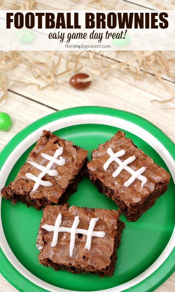 Learn how to make football brownies for a perfect game day treat!