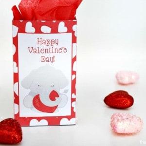 Printable Elephant Valentines Treat Bag