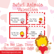 Print Your Own Jungle Animal Valentines