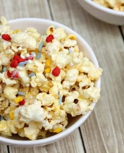 Enjoy a movie night together or a dress up party with this easy Princess Party Popcorn recipe!