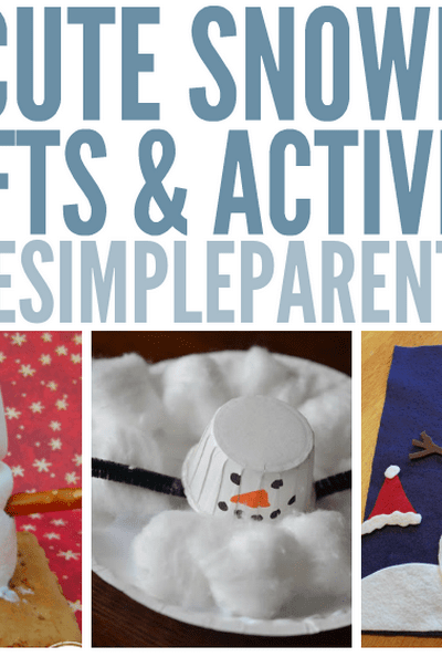 Have fun this winter with these cute snowman crafts for kids! So many fun snowman activities!
