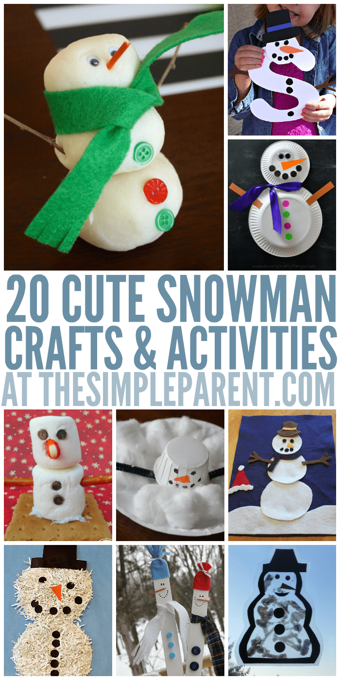 20 Cute Snowman Crafts for Kids