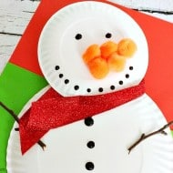 Build Your Own Snowman Paper Plate Craft