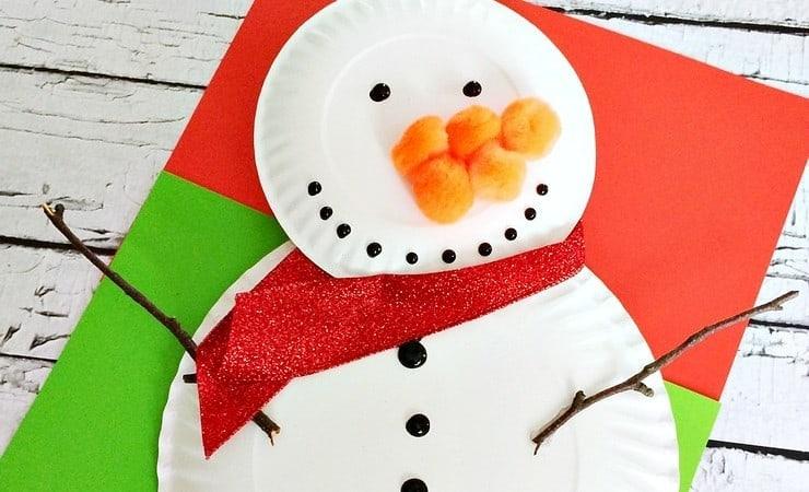 Preschool Paper Plate Snowman Craft to Celebrate Winter