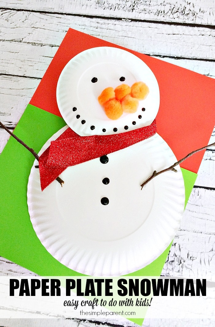 Do You Want to Build a Snowman! Do it together with your kids and make your own preschool paper plate snowman craft!