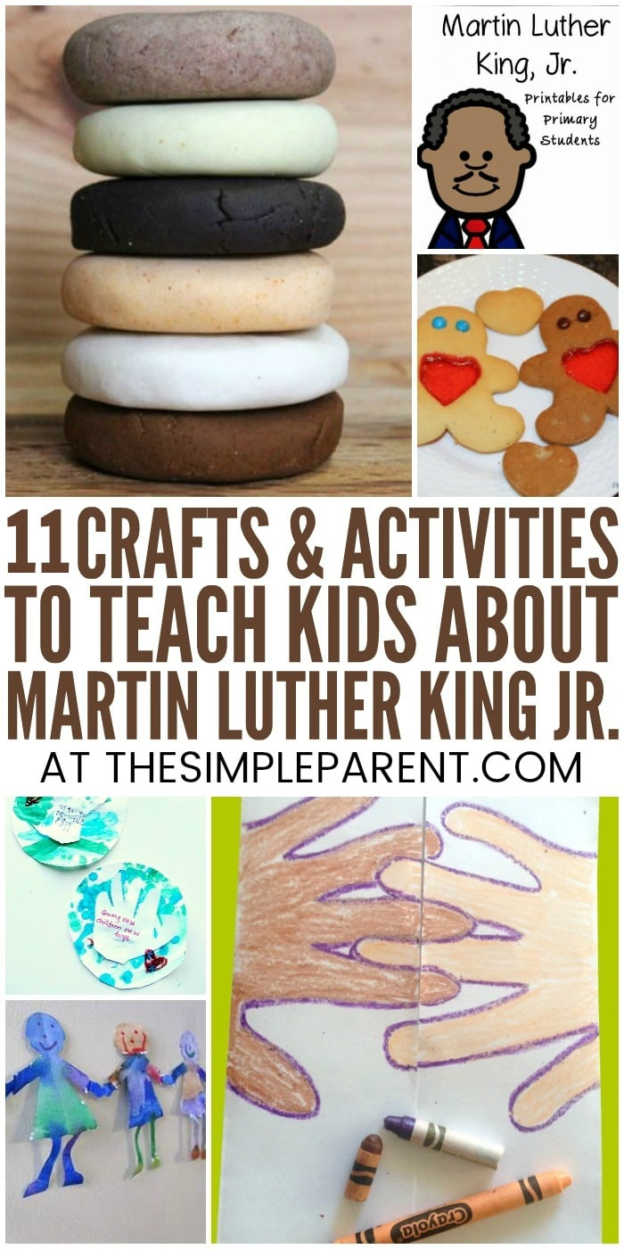 Martin Luther King Jr Activities for Kindergarten & Preschool - Teach your kids about this important historical figure with these activities, crafts, and projects. From I Have a Dream art to a FREE printable, you can celebrate Mariah Luther King Jr. Day with your kids while they learn!