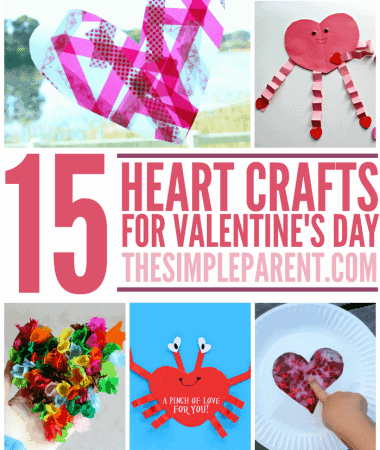 Share the love with your family with these heart crafts for kids! Fun for Valentine's day crafts or any time of year!