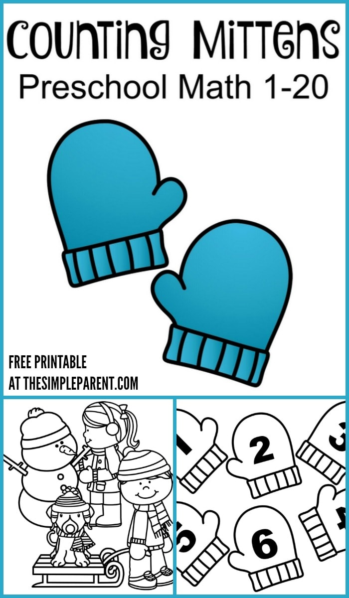 Celebrate winter and practice numbers with your kids with this free winter activity printable for preschoolers! Counting Mittens is a fun way to learn and spend time together!