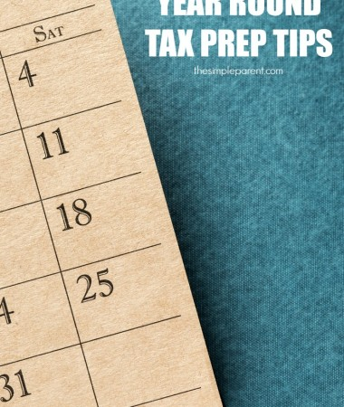 Make tax prep easier with these year round tax preparation ideas!
