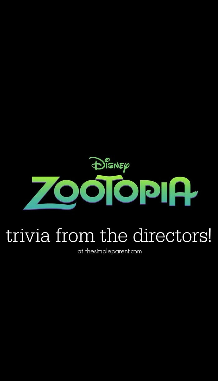 Learn some fun Zootopia trivia straight from the directors of the new movie from Disney!