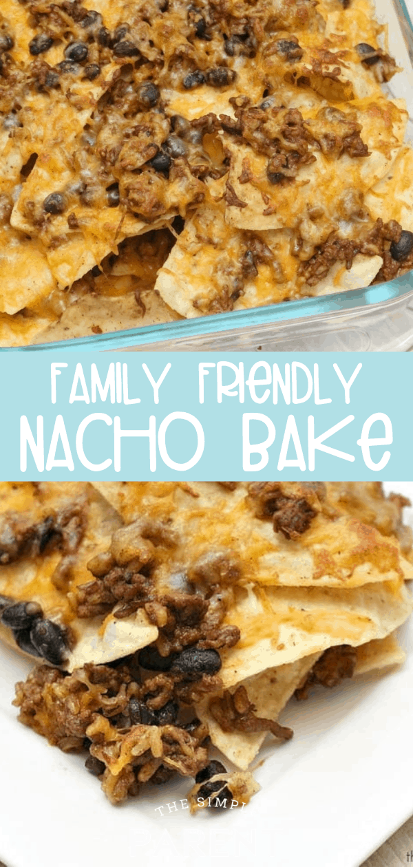 Oven Nacho Bake with rice, beans, and tortilla chips