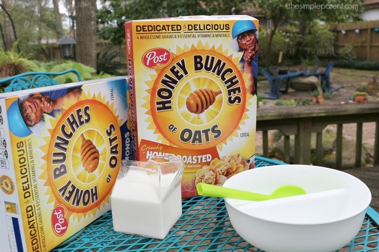 Celebrate National Cereal Day with the family by making Honey Bunches of Oats treats!